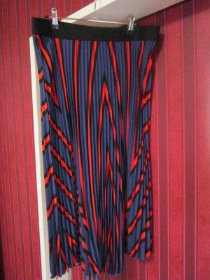 Pleated Skirt dark blue polyester