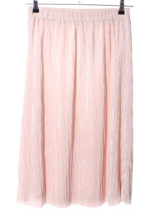 Gonna pieghettata rosa stile casual