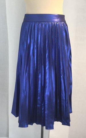 Jupe plissée bleu foncé-bleu