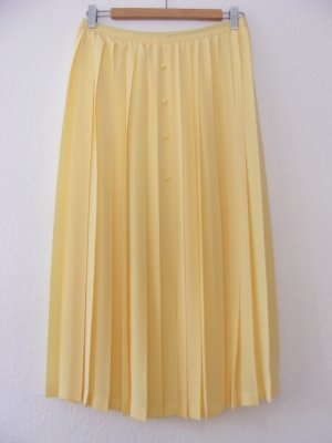Jupe plissée jaune polyester