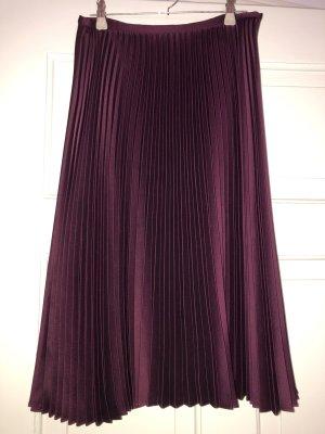 Lauren by Ralph Lauren Pleated Skirt bordeaux