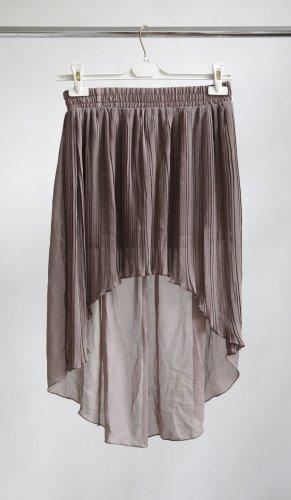 NT Fashion Gonna asimmetrica marrone chiaro-grigio Poliestere