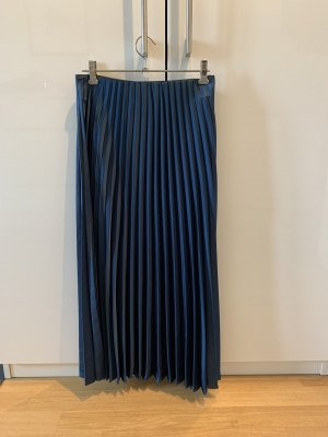 Zara Falda plisada petróleo