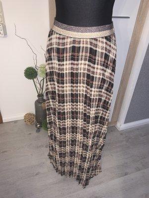 Falda larga marrón grisáceo-marrón claro