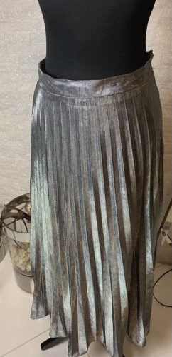 keine Plisowana spódnica srebrny