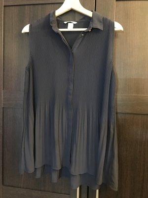 plissierte ärmellose Bluse