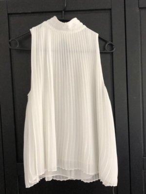Plissierte bluse kragen fein