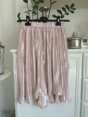 Boohoo Jupe plissée rosé-argenté
