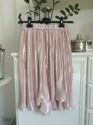 Boohoo Pleated Skirt pink-silver-colored
