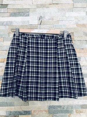 H&M Plaid Skirt black-white