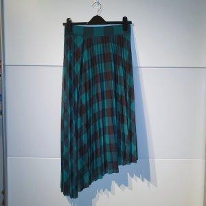 Bershka Asymmetry Skirt cadet blue-black polyester