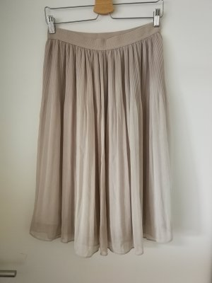 H&M Divided Plisowana spódnica beżowy