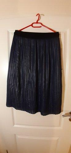 Promod Falda plisada azul oscuro