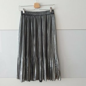 Scotch & Soda Pleated Skirt silver-colored polyester