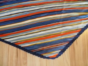 Hallhuber Gekreukte sjaal veelkleurig Acryl