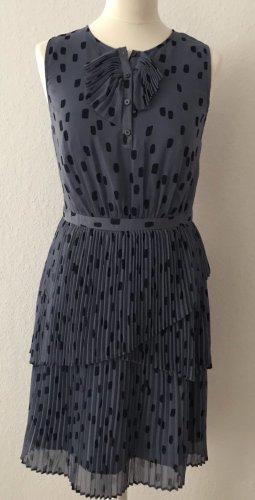 Plissiertes Polka-Dot-Kleid