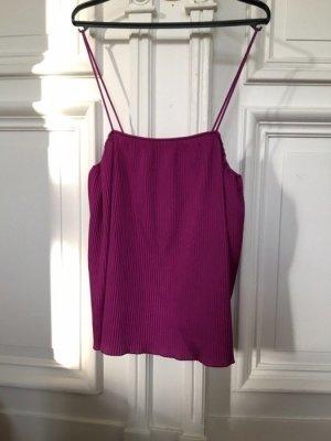Plissiertes Top shirt Spaghettiträger Fuchsia / Pink / magenta