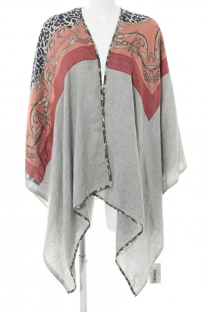 Plomo o plata Capa estampado con diseño abstracto elegante