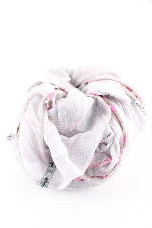 Plomo o plata Fazzoletto da collo grigio chiaro-rosa stampa integrale