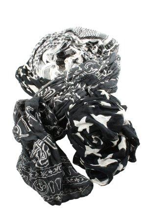 Plomo o plata Kefiah nero-bianco stampa integrale stile casual