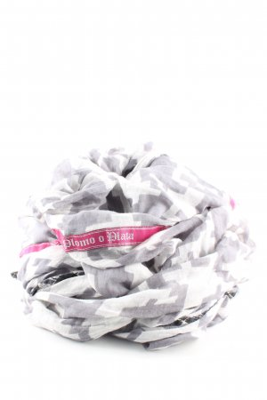 Plomo o plata Écharpe ronde gris clair-blanc imprimé allover