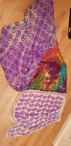 Plomo o plata Bufanda de seda blanco-lila