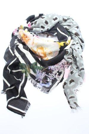Plomo o plata Seidentuch hellgrau-schwarz Allover-Druck Casual-Look