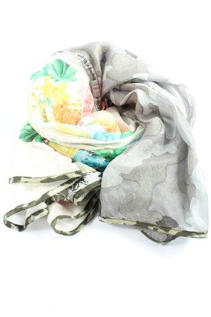Plomo o plata Chal veraniego gris claro-amarillo pálido estampado floral