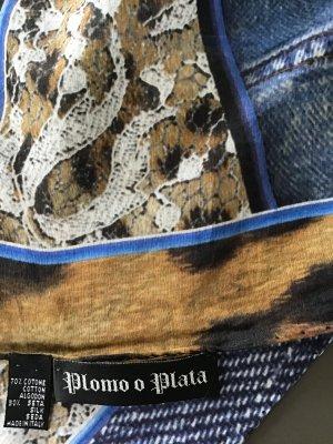 Plomo o Plata Tuch  Seide / Baumwolle