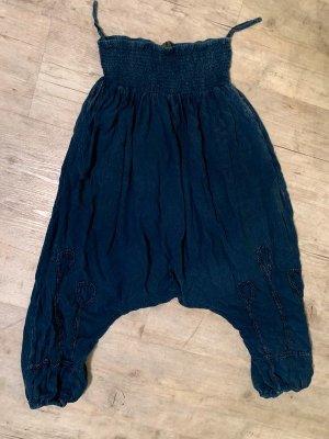 Pantalone alla turca blu scuro-blu