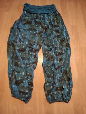 Unbekannte Marke Sarouel bleu-vert