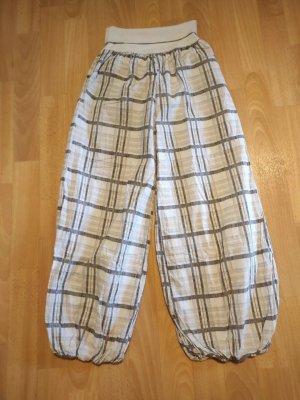 Unbekannte Marke Pantalón estilo Harem blanco-gris