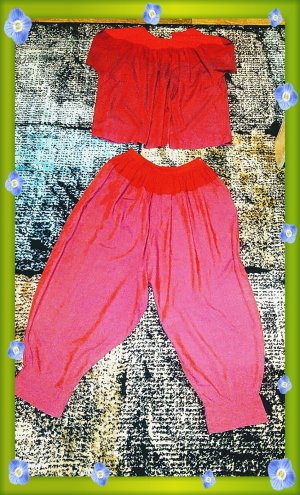 Bloomers bright red-red mixture fibre
