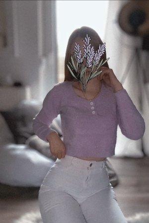Plüsch Crop Pullover
