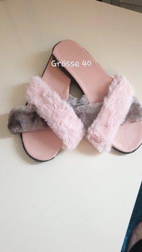 Ciabatta aperta color cammello-rosa pallido