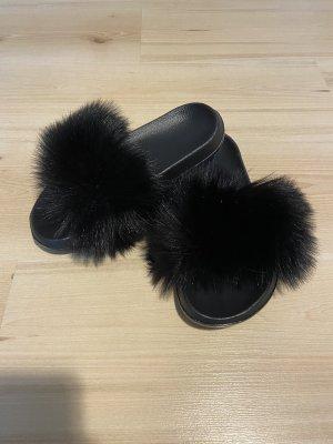 Amazon Pantoufles noir