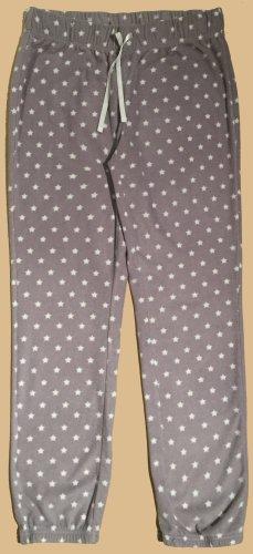 Plüschhose mit Sternchen und Gummizug, lang, Gr. M