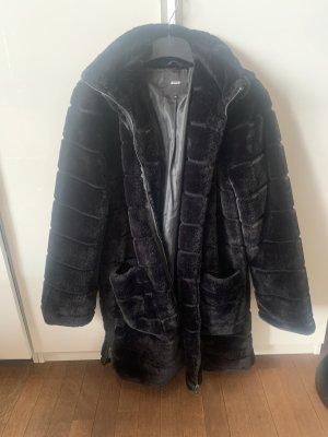 Object Fake Fur Coat black