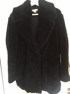 H&M Studio Cappotto in eco pelliccia nero