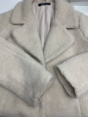 GinaTricot Płaszcz oversize w kolorze białej wełny