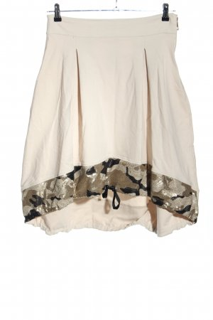PLUMS Balloon Skirt natural white-brown camouflage pattern casual look