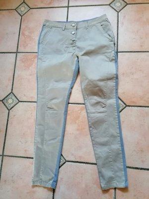 Plus Fine Hose beige /grau Gr. L neu
