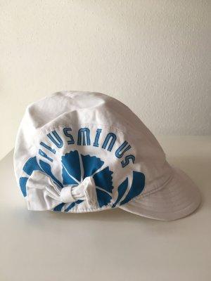 Chapeau de soleil blanc-bleu fluo