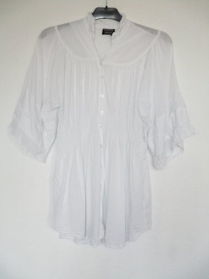 Blouse en crash blanc coton