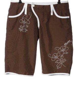 PLUSMINUS created by Chiemsee Bermudas brown-white flower pattern casual look