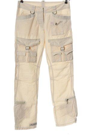 PLUSMINUS created by Chiemsee Pantalon cargo crème style décontracté