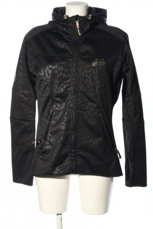 PLUSMINUS created by Chiemsee Softshell Jacket black leopard pattern casual look