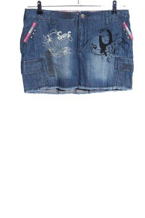 Plusminus Gonna di jeans Stampa a tema stile casual