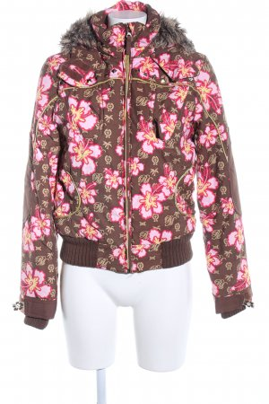 Plusminus Giacca invernale rosa-marrone stampa integrale stile casual