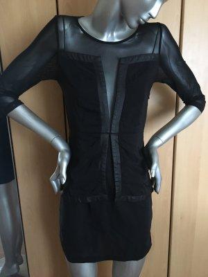PM People's Market Kleid schwarz mit Chiffon Gr. S